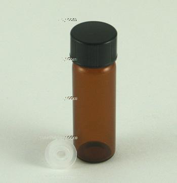 Amber Glass Vial 1 Dram 1 8 Oz 3 8 Ml W Orifice